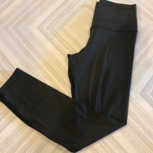 Lululemon Army Green/Brown Full Length Leggings